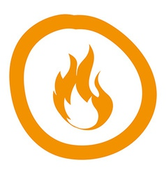 flame design vector image