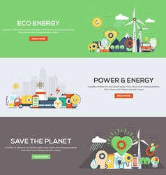 Flat designed banners Eco Energy vector image