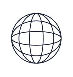 Global world earth connection symbol vector