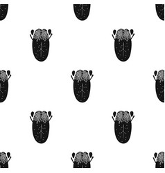 Human tongue icon in black style isolated on white vector