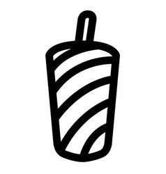 isolated soda icon vector image vector image