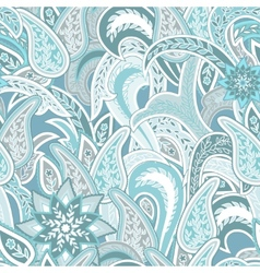 Paisley colorful seamless background vector