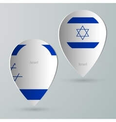 Paper of map marker for maps israel vector