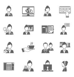 Personal Assistant Icons vector image