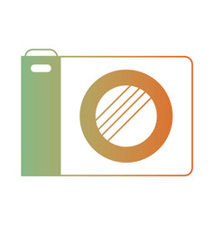 Photo camera icon in degraded green to red color vector
