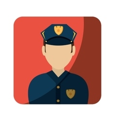 Police avatar character icon vector