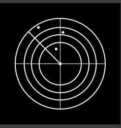Radar white color icon vector