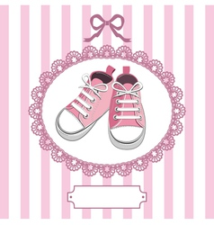 shoes and lace frame vector image vector image