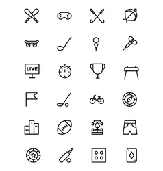 Sports outline icons 2 vector