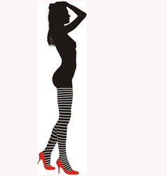 striped stockings vector image vector image