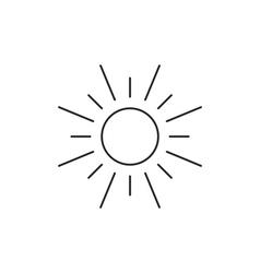 Sun icon outline contour vector image