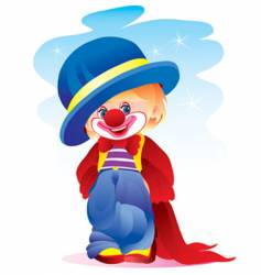 the clown in a hat vector image vector image
