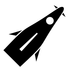 Winged rocket icon simple style vector