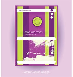 Company brochure purple template vector