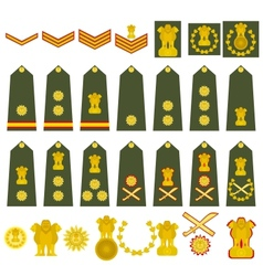Indian army insignia vector