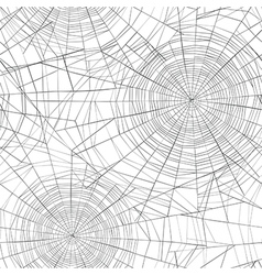 Halloween seamless pattern spider web background vector