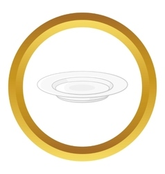 Soup plate icon vector