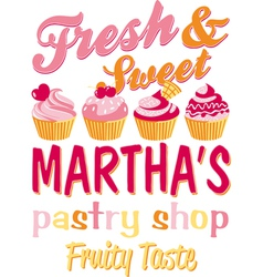 Martha pastry shop vector