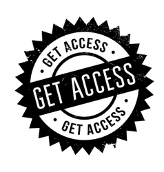 Get access stamp vector image