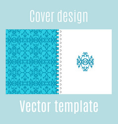 cover design with traditional arabic pattern vector image