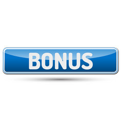 Bonus - abstract beautiful button with text vector
