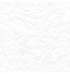 Seamless white crumpled paper texture vector image