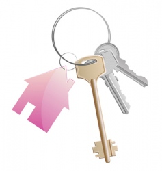 keyring with cottage vector image