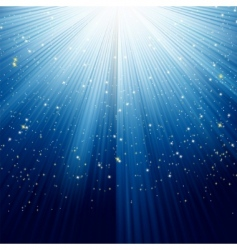 Light burst and stars vector