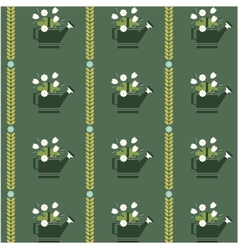 Flat flower vintage patterns vector