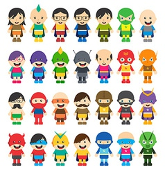 Superhero cartoon theme vector