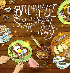 Beautiful breakfast vector