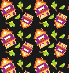 Houses pattern vector