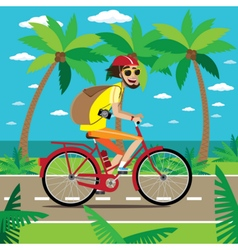 Bicycler travels vector