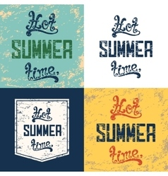 Set of four hot summer time backgrounds vector