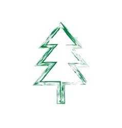 Christmas tree grunge silhouette vector