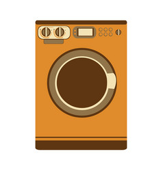 aged silhouette with washing machine vector image vector image