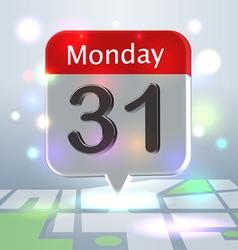 Calendar new Year Eve badge vector image vector image