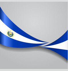 El salvador wavy flag vector