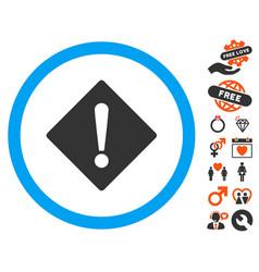 error icon with valentine bonus vector image vector image