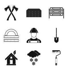 External finishing icons set simple style vector