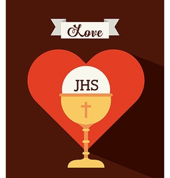 First communion design vector