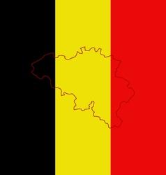 Flag belgium vector