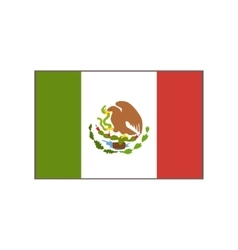 Flag of the country mexican culture symbol vector