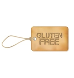 Gluten free old paper grunge label vector