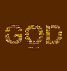 god with bible words genesis to revelation vector image vector image