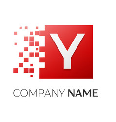 letter y logo symbol in the colorful square with vector image vector image