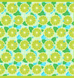 lime with mint seamless pattern vector image vector image