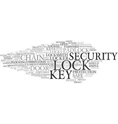 Lock word cloud concept vector