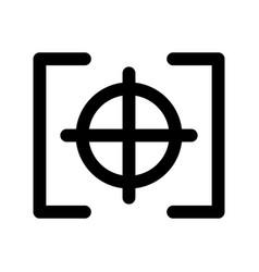 Photo target camera item vector