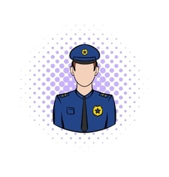 Policemen comics icon vector image